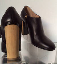NEW Authentic CHLOE Chunky Heel Leather Shoe Boots  (Size 40) - MSRP $720.00!