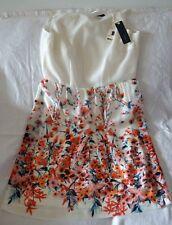 Brand New ESPRIT White/flowers dress - Collection Damen Kleid - size 10