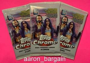3 2021 Topps Chrome WWE Pack Lot Auto/Variation/Legend/Refractor/Feats/Strength?