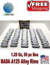 WHEEL WEIGHTS ALLOY Clip on RIMS 1.25 Oz, 50 pc Box BADA ALX 125  MADE IN USA