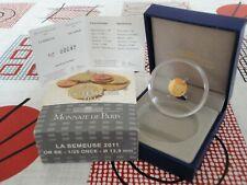5 euro BE France 2011 or gold -  SEMEUSE 2011 *42* TRES RARE !!!!