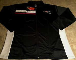New England Patriots French Terry Track Jacket 2XL Womens Ladies Majestic NFL