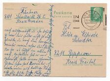1970 GERMANY Cover DRESDEN To RIPPIEN Stationery Postcard Elfriede