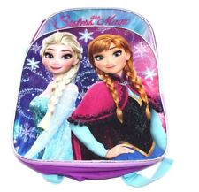 """Frozen Backpack Elsa and Anna Sisters Are Magic 16"""" Kid School Backpack"""