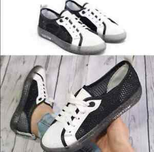 Womens Ladies Trainers Flat Lace Up Pumps Canvas Plimsolls Old Shool New UK 3