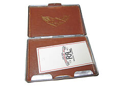RRL Ralph Lauren Double RL Nickle Hard Sided Polo ID Card Leather Case Wallet