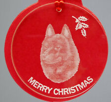 Schipperke Dog Ornament, Lucite,