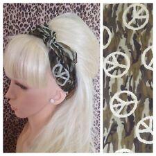 Algodón Estampado de Camuflaje Camo CND signo de cuello cuadrado de cabello Bandana Diadema Bufanda