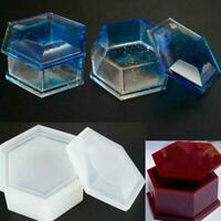 Silikon hexagon schmuck aufbewahrungsbox DIY form harz machen formguss hand R6N6