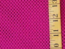 BRIGHT PINK FUCHSIA  FISH NET POLY COTTON FABRIC NO STRETCH BY THE 1/2 YARD