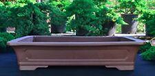 "Unglazed 32"" Rectangular Yixing Purple Clay Ceramic Bonsai Pot(PA82-32)"