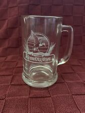 """New listing Reminington Since 1816 Etched Glass 5"""" Beer Mug"""