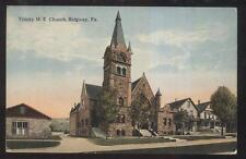 Postcard RIDGWAY Pennsylvania/PA  Trinity M.E. Church & Area Houses/Homes 1907