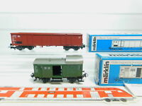 BL660-0,5# 2x Märklin H0/AC Güterwagen/Gepäckwagen 4690/4699 DB NEUW + OVP