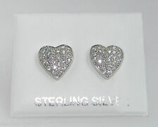 Sterling Silver Excellent Simulated Fine Diamond Earrings