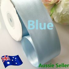 Blue Double Side Satin Ribbon 38mm X 22meters/25yards High Quality