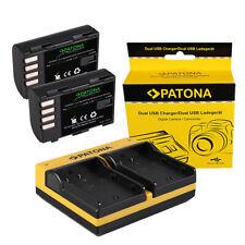2x Batteria Patona + caricabatteria USB dual per Panasonic DMW-BLF19E