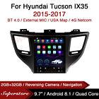 "9.7"" Tesla Style Android Car Stereo GPS For Hyundai Tucson IX35 2015-2017"