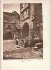 """PHOTO original """"visage de la france"""" environ 1920 17 cm x 23 cm RIQUEWIHR"""
