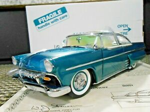 "Danbury Mint 1:24 1955 Ford Crown Victoria Custom ""Metallic Turquoise & White"""