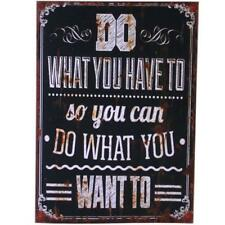 Vintage Shabby chic Wood Effect Do what you have to Wall Plaque WP_30914
