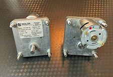 2-MOLON PERMANENT MAGNET DC GEARMOTOR.  9/24 V