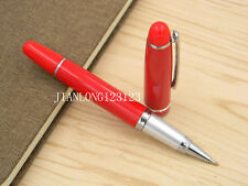 Jinhao Chinese Red Silver Trim NEW Metal Rollerball Pen