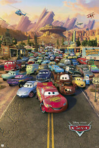 "Cars - Disney / Pixar Movie Poster (Regular Style) (Size: 24"" X 36"")"
