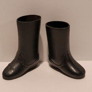 """Vintage 1970's Original Mego 8"""" Mr. FANTASTIC Black Boots - NICE+++!!!"""