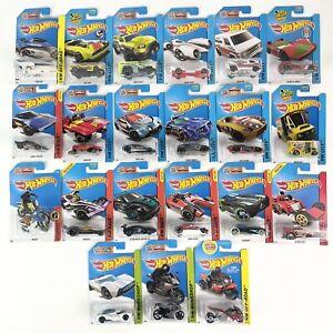 Hot Wheels Lot of 20 Cars 2013- 2015 Plus 1 Treasure Hunt Various Conditions