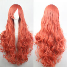 Women Long Hair Full Wig Natural Curly Wavy Straight Synthetic Costume Party Wig