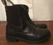 Equistar Children's Paddock Riding Boots Brown Size 12 Zip Closure Horseback EUC