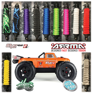 *NEW* Arrma Outcast 1/8 Standard Color Shock Covers Wraps Dust Sox Spring Sleeve