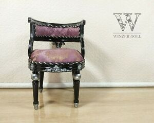 1/4 classic chair black for dolls 16 inch, BJD furniture