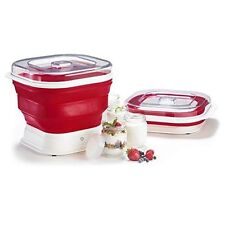 Cuisipro 74735505 Collapsible Yogurt Maker, Large, Red/White