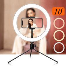 """Cámara de video 10"""" LED Luz de anillo de maquillaje para autofoto + Soporte en trípode para en YouTube en vivo"""