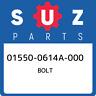 01550-0614A-000 Suzuki Bolt 015500614A000, New Genuine OEM Part