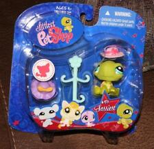 Littlest Pet Shop 971 Sassiest Green Turtle Set Collectible Pets NEW Retired