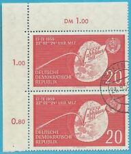 DDR aus 1959 gestempelt MiNr.721 Ecke oben links - Lunik 2!