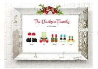 Personalised FAMILY Christmas A4 Print  Sign Decoration