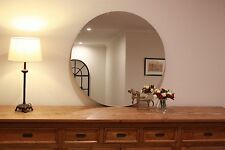 Extra Large Round Frameless polished edge mirror Dia. 95cm Bathroom or Feature