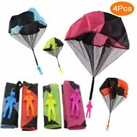 4 × Kinder Hand werfen Fallschirm Spielzeug Hand werfen Fallschirm Spielzeug