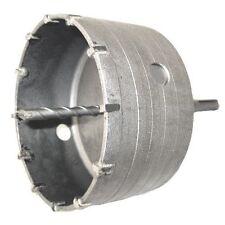 110mm BRICK TCT TUNGSTEN CORE DRILL HOLE CUTTER c/w PILOT BIT + SDS+ SHANK ARBOR