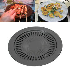 Non-stick Healthy Gas Grill Pan Smokeless Barbecue Plate Outdoor Roasting Tool