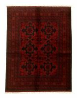 """Hand-knotted Carpet 4'10"""" x 6'4"""" Traditional Vintage Wool Rug"""