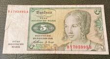 More details for 1970 german federal rep. 5 deutsche mark banknote