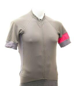 Rapha Short Sleeve Training Cycling Jersey Men MEDIUM Grey Road Bike Gravel MTB
