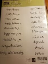 Good Greetings Stampin Up! Clear Mount NEW Words Holidays Love Christmas Fall