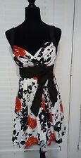 Trixxi Floral Dress Juniors Size 7 Red Black White Summer Casual Party Outfit
