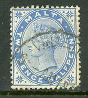 Malta 1885 QV 2½p Ultramarine Scott #11 VFU  A333 ⭐⭐⭐